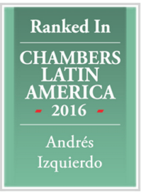 Leading Consultant in the Chambers Latin America Guide 2016